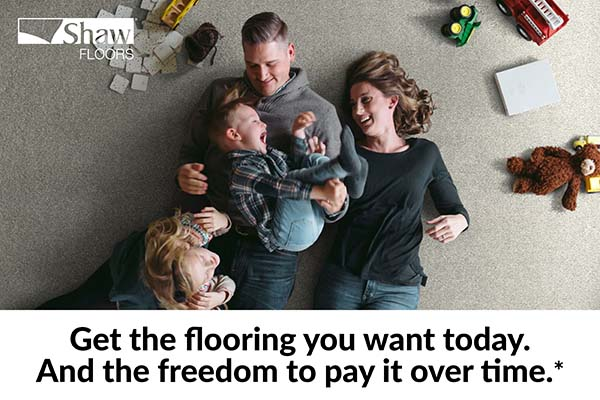 Get the flooring you want today.  And the freedom to pay for it over time.*