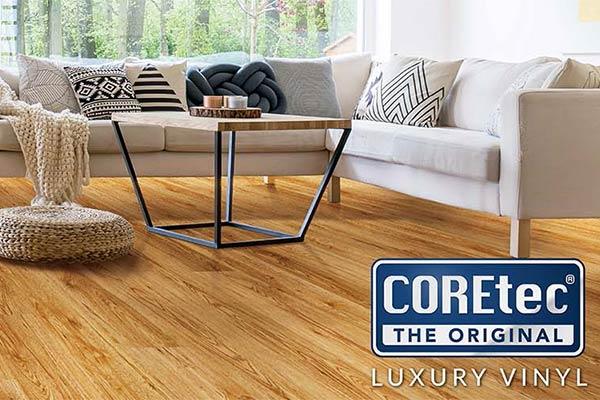Coretec luxury vinyl flooring is waterproof, kid proof and life proof